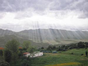 Sun rays - Oil painting