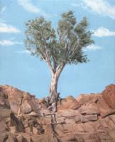 Just a tree - Oil painting by Ben-Seffaj