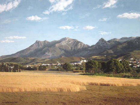 Tetuan mountains - Oil painting