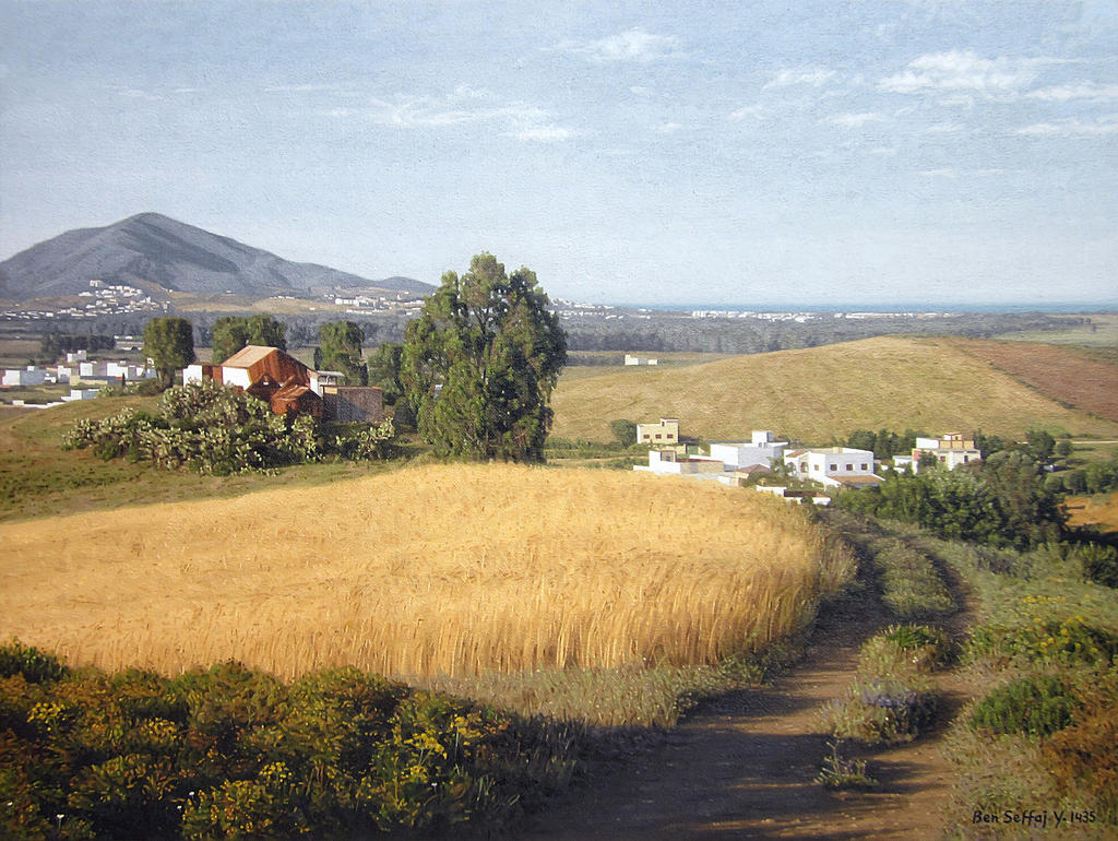 Farm - Oil painting