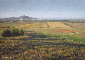 Hills - Oil painting by Ben-Seffaj