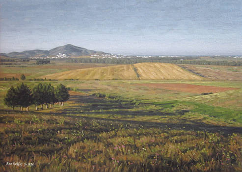 Hills - Oil painting