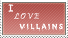 I love villains stamp by Queen-of-Ice-Heart