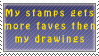 Stamps VS drawings by Queen-of-Ice-Heart
