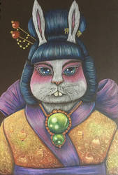 Lantern Geisha Bunny  by BlossomBrooks