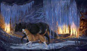 Completed ych Ice cave