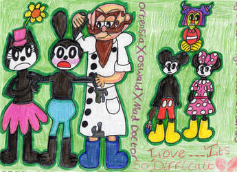 He's MINE! = OrtensiaXOswaldXMad Doctor LT Art by badberry123