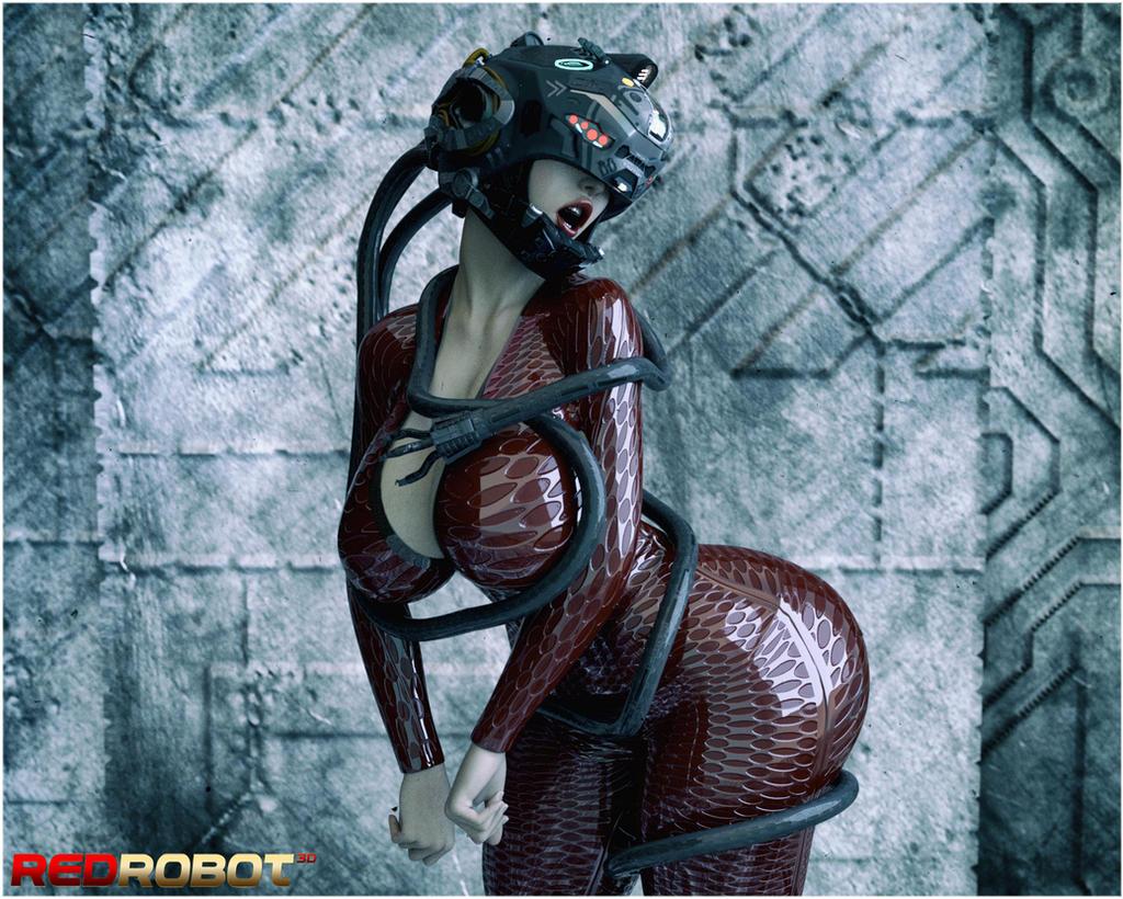 Cybernetic Embrace by Redrobot3D