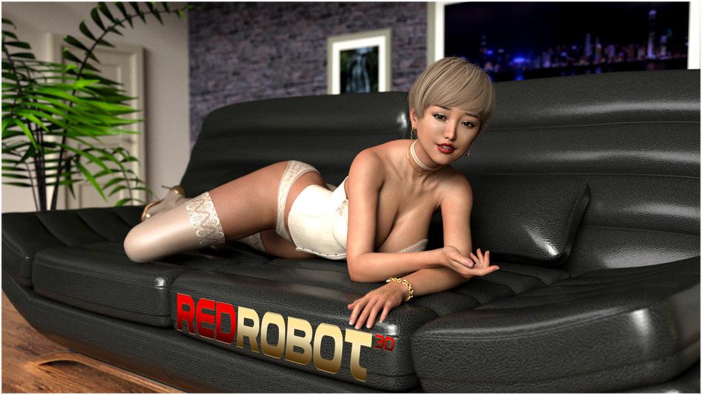 Asian Beauty 2 by Redrobot3D