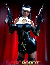 Nuns and Guns by Redrobot3D