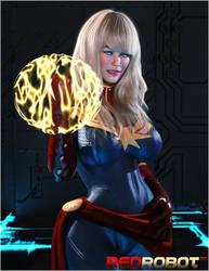 Captain Marvel by Redrobot3D