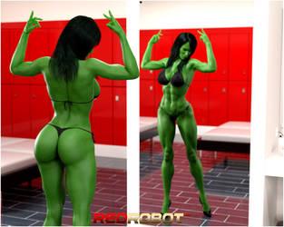 Sensational She Hulk by Redrobot3D