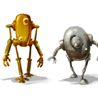 Robots tin miniature by MarcinTurecki