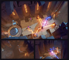 Archaica: The Path of Light - Library, Desert City