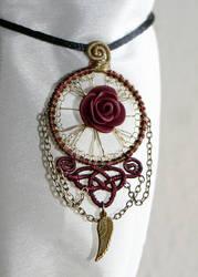 kind of art nouveau pendant by zebrrra