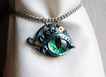 steampunky cat or reptile eye by zebrrra