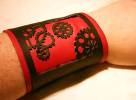 gear leather wristband