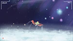 Day 2 SpeedPaint - 'Amongst Stars'