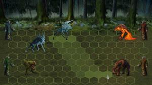Ancient Beast combat mock-up