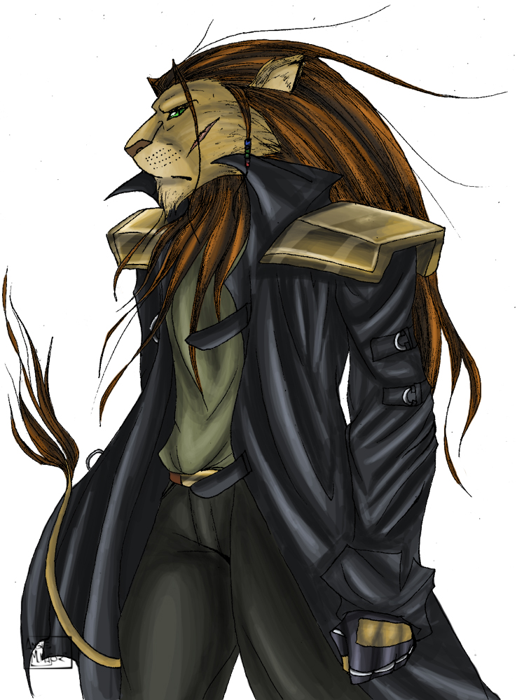 female anthro lion