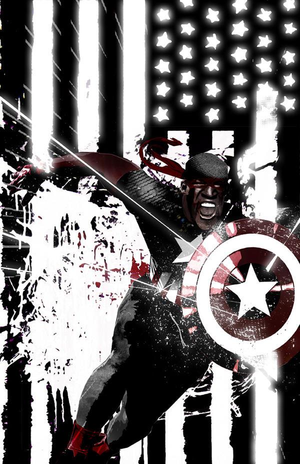 Capt America Isaiah Bradley (RGX Collabo) by skyscraper48