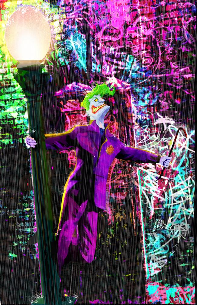 Joker in the Rain by skyscraper48