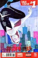 Spider-Gwen 1 Sketch Cover by skyscraper48