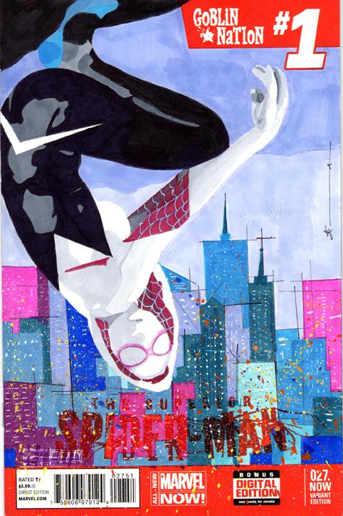 Spider-Gwen 1 Sketch Cover by skyscraper48