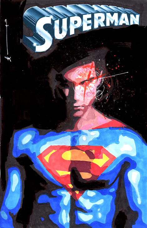 Superman Sketch Cover by skyscraper48