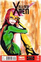 All New X-Men Sketch Cover: Jean Grey by skyscraper48