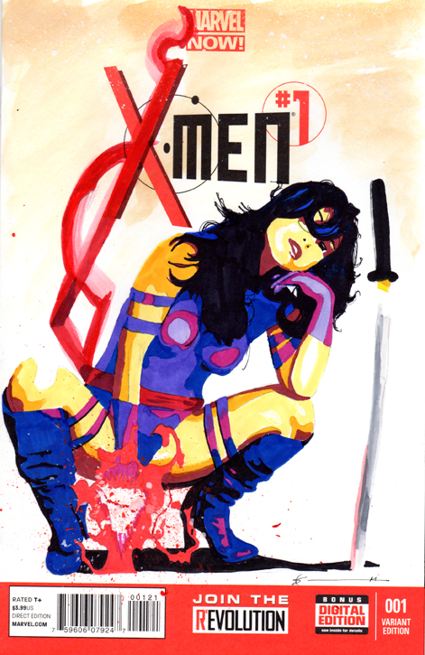 X-Men Sketch Cover: Psylocke by skyscraper48