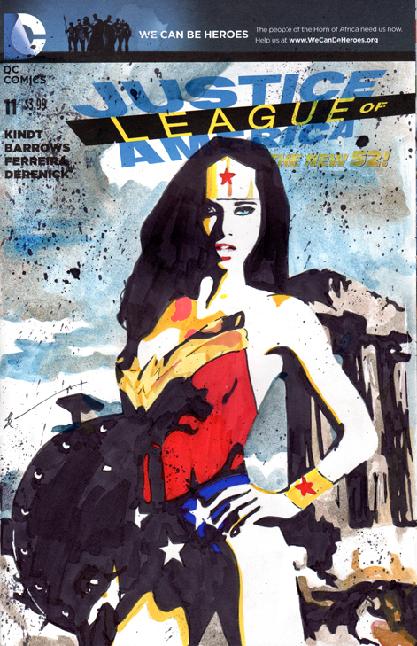 Justice League Wonder Woman Sketch Cover by skyscraper48