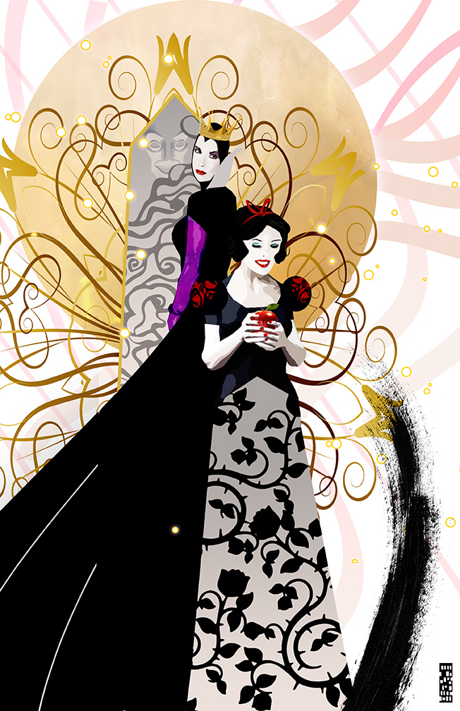 Snow White and the Evil Queen by skyscraper48