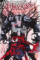 Venom and Carnage on ASM Renew Sketchcover by skyscraper48