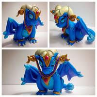 Polymer Clay Tarecgosa Dragon by TempiesMenagerie