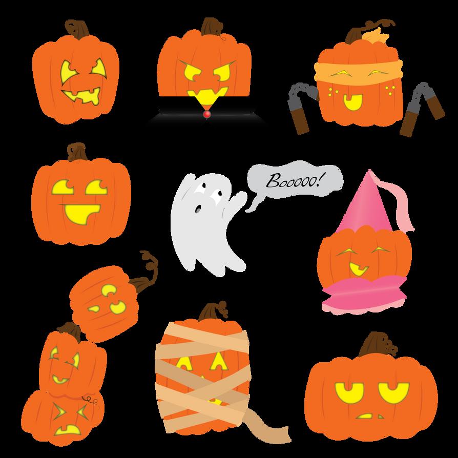 Spooooooky Halloween Graphics by HappyLilFairy