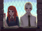 Scorpius and Rose at class
