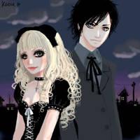 gothic lolita parejita by keerakeera