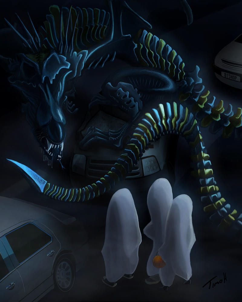 Xenomorph Snake Dragon Halloween Entry by timohuovinen on ...