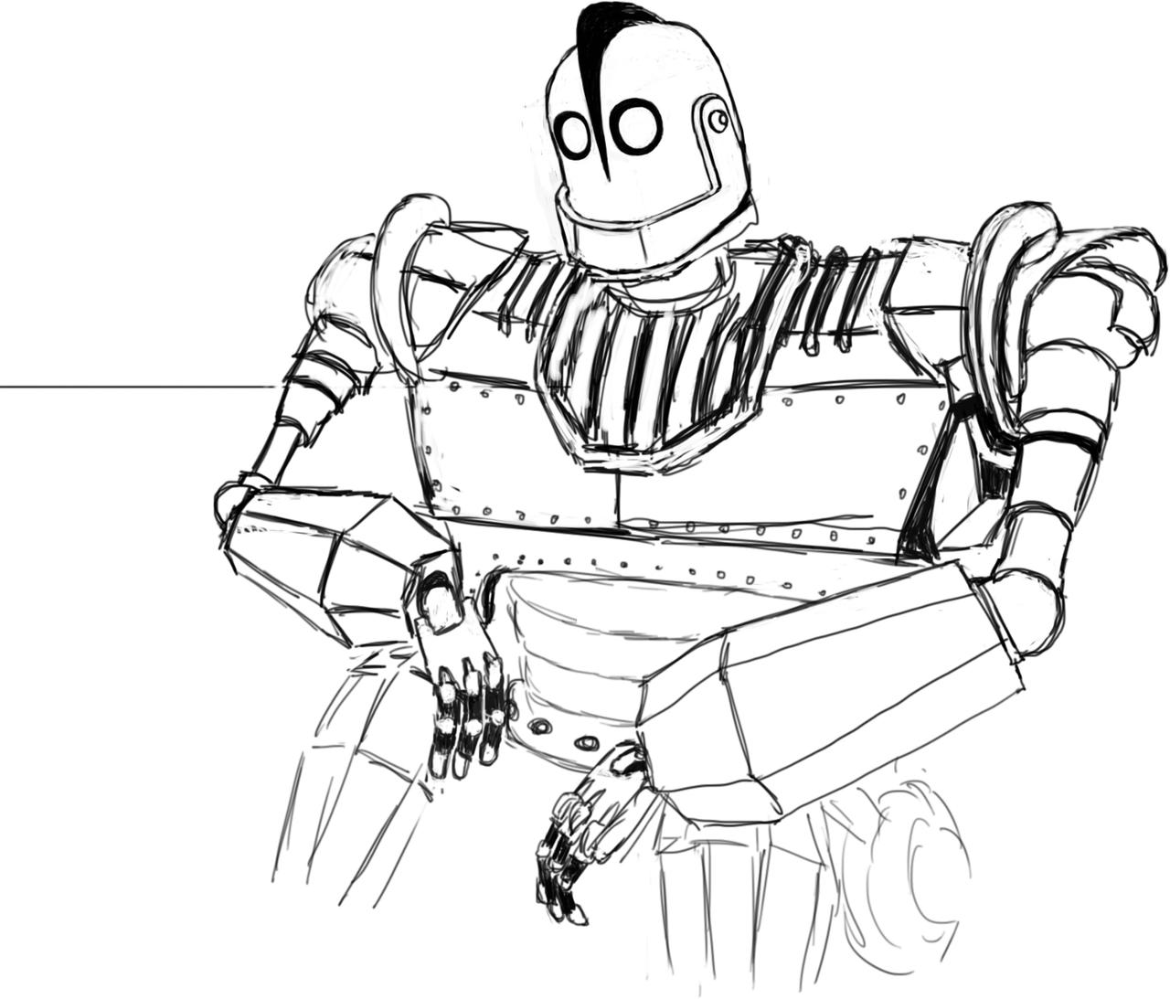coloring pages iron giant boy - photo#4