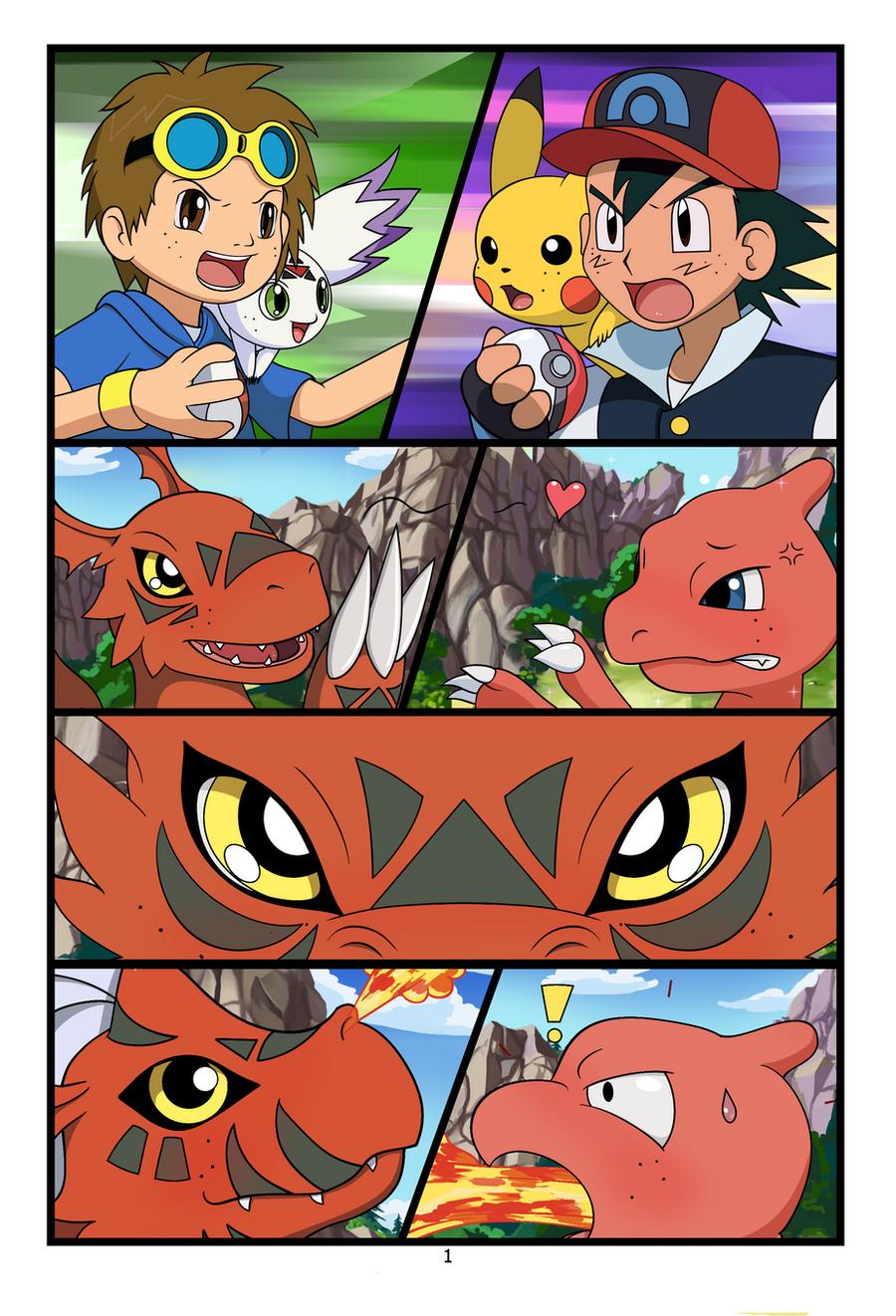 Adult Digimon und Pokemon Art