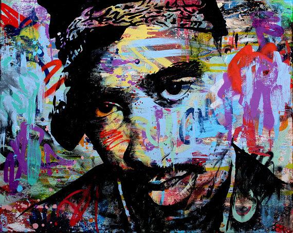 2PAC Mixed Media on Canvas by artbydavidc