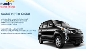 Gadai BPKB Mobil Bunga Rendah Langsung Cair by mandiripinjamandana