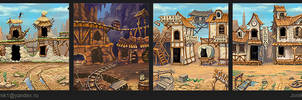 The backgrounds for the game. by Jonik9i