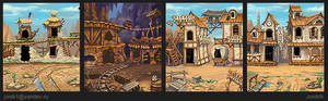 The backgrounds for the game.