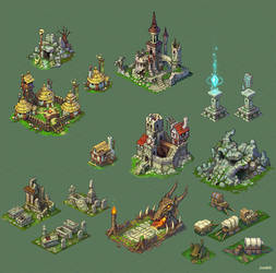 Buildings for game.