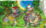 Art for animated cartoon. fragment.