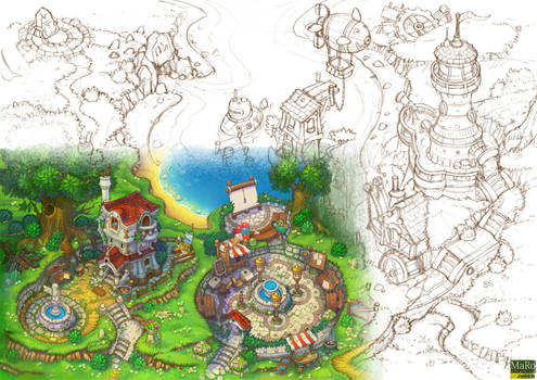 Art for animated cartoon. Overview.