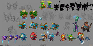 Concepts for game characters 3 by Jonik9i