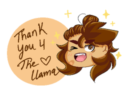 Llama Thank You  by Jelysium